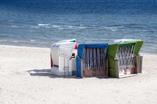Ferienhaus Lissy-Mary auf Sylt - Impressionen Strand mit Strandkörben