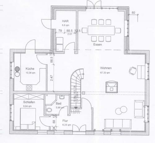 Ferienhaus Lissy-Mary auf Sylt - Grundriss Erdgeschoss